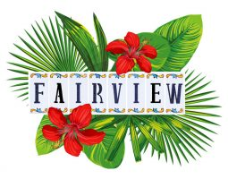 Main Fairview-Logo with green plants in the back